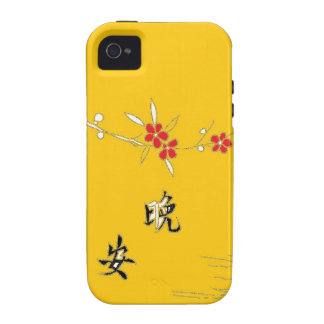 good night bright yellow flower iPhone 4 cover