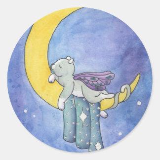 Good Night Classic Round Sticker