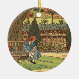 """""""Good Night & Good Morning"""" Double-Sided Ceramic Round Christmas Ornament"""