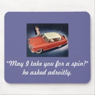 """Good Night, Irene!"" Vintage Car Magnet Mouse Pad"