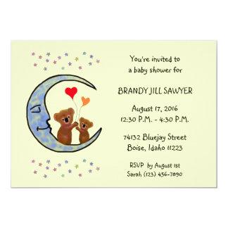 Good Night Koala Moon Baby Shower Invitaton Card