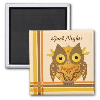 Good Night Owl fun magnet