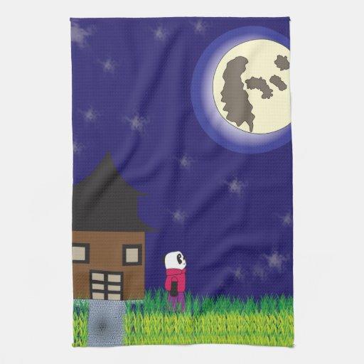 Good Night Panda Kitchen Towel