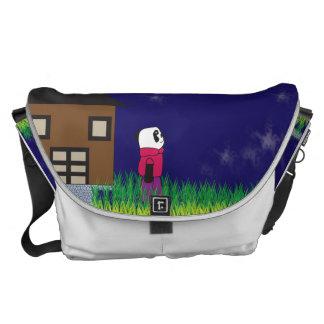Good Night Panda Large Messenger Bag
