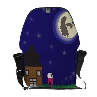 Good Night Panda Rickshaw Messenger Bag