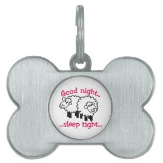Good Night Pet ID Tags