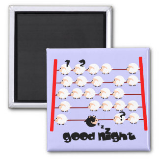 good night sheep 2 inch square magnet