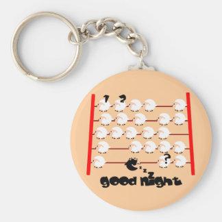 good night sheep keychain