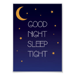 Good Night Sleep Tight Quote Poster