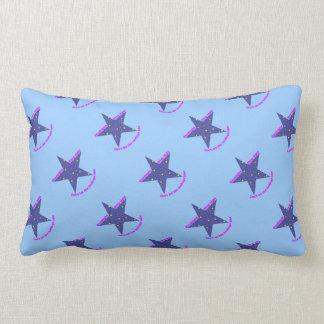 Good Night Sleep Tight Star - blue background Pillows