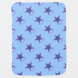 Good Night Sleep Tight Star - blue background Stroller Blanket