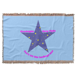 Good Night Sleep Tight Star Throw Blanket