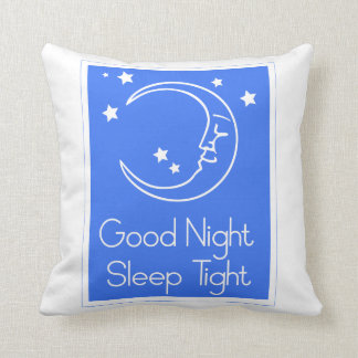 Good Night Sleep Tight Throw Pillow