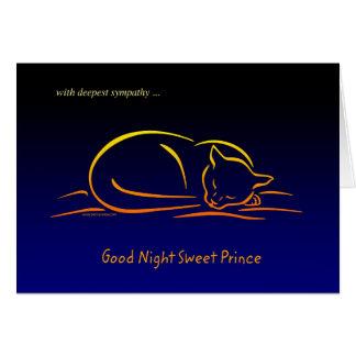 Good Night Sweet Prince CAT Sympathy Card
