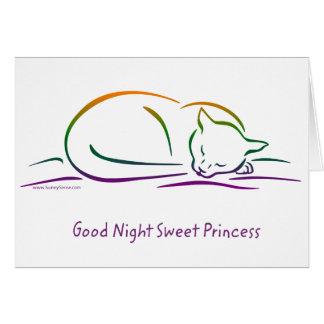 Good Night Sweet Princess (Cat) Greeting Card
