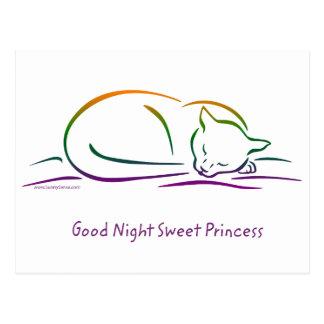 Good Night Sweet Princess (Cat) Postcard