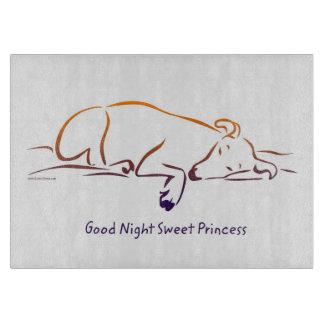 Good Night Sweet Princess (Dog) Cutting Board