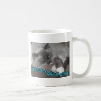 good ol' cat nap classic white coffee mug