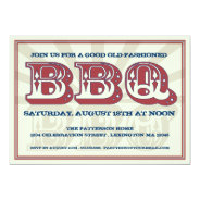 "Good Old BBQ Country Style Party Invitation 5"" X 7"" Invitation Card at Zazzle"