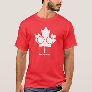 Good Old Canada - Canada maple with glasses on T-Shirt