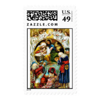 Good Old Christmas Postage Stamps