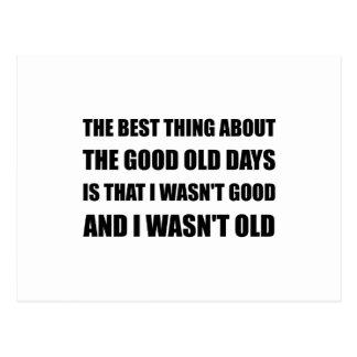 Good Old Days Joke Postcard