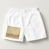 Good old days pattern, shabby chic, country chic, boxers