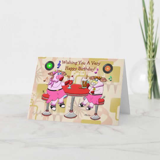 Good Old Fashioned Birthday Card Zazzle