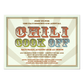 Good Old Fashioned Chili Cook Off Party Invitation