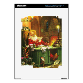 Good Old Santa Claus Decals For iPad 3