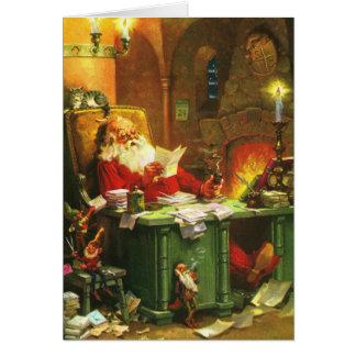 Good Old Santa Claus Greeting Card
