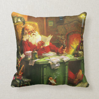 Good Old Santa Claus Throw Pillows