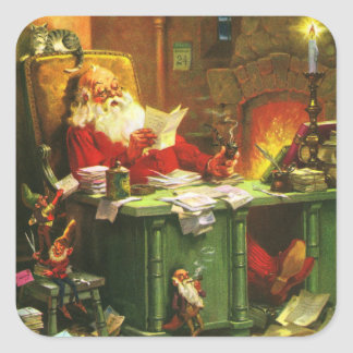Good Old Santa Claus Square Sticker