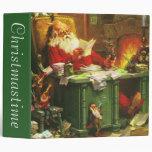 Good Old Santa Claus Vinyl Binder