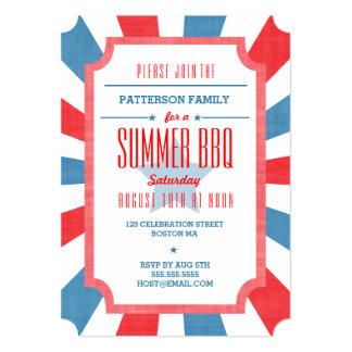 "Good Ole Summer BBQ Party Invitation 5"" X 7"" Invitation Card"