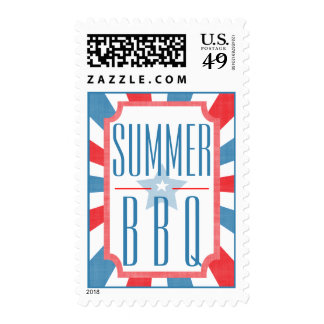 Good Ole Summer BBQ Party Invitation Postage Stamp