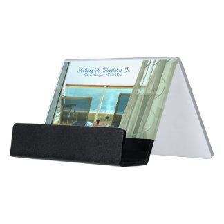Good On Board CH1P Personalized Desk Business Card Holder