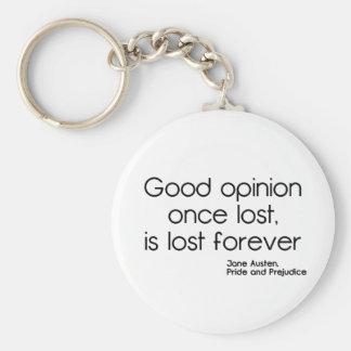 Good Opinion Basic Round Button Keychain