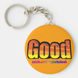 Good Orange Spraypaint Graphic Customize Me Keychains