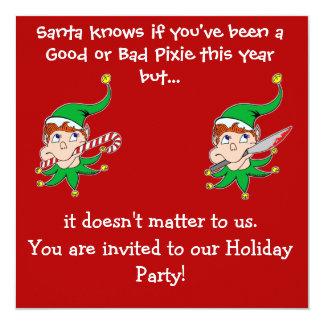 Good Pixie Bad Pixie Party invitation