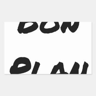 Good plan - Word games - François City Rectangular Sticker