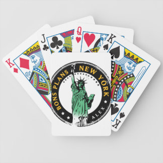 Good Plans for a voyage to New York Bicycle Playing Cards