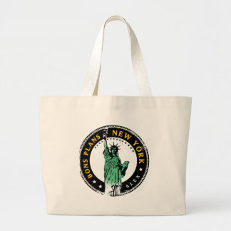 Good Plans for a voyage to New York Large Tote Bag