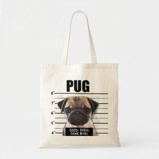 good pugs gone bad budget tote bag