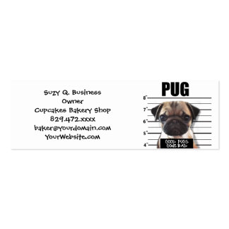good pugs gone bad Double-Sided mini business cards (Pack of 20)