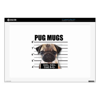 """good pugs gone bad decal for 17"""" laptop"""
