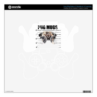 good pugs gone bad PS3 controller decal