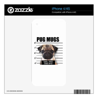 good pugs gone bad iPhone 4 decal