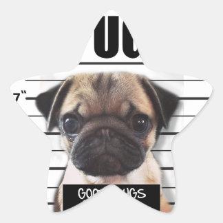 good pugs gone bad star sticker