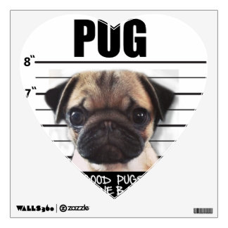 good pugs gone bad wall sticker